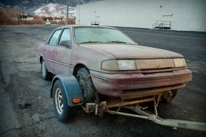 mud covered car