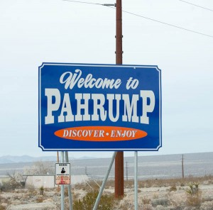 pahrump nevada city sign