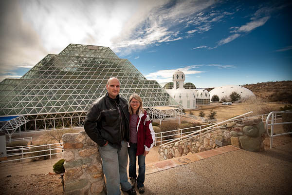 Rob and Dar outside Biosphere 2