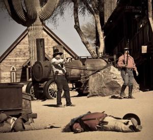 Goldfield ghost town gun fight