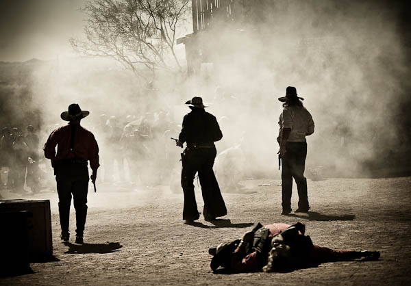Goldfield ghost town gun fight