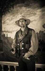 cowboy having portrait taken