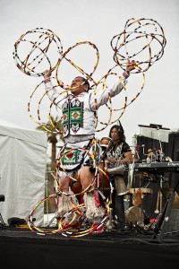Moontee Sinquah hoop dancer