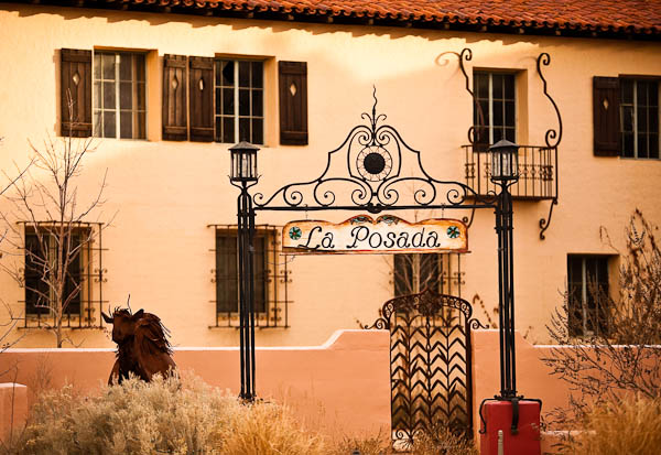 Front Gate at La Posada Hotel Winslow Arizona
