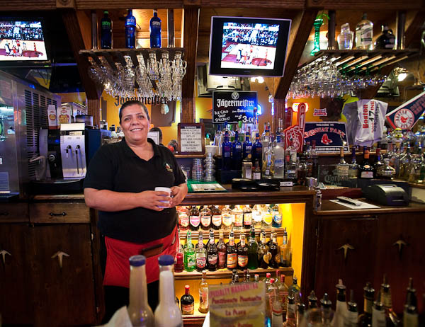 Waitress at Poncho McGillicuddy's in Williams Arizona