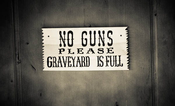 No guns please graveyard full