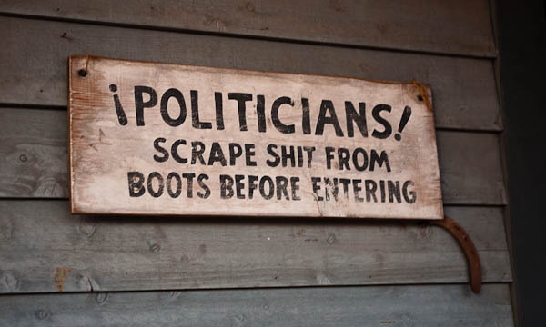 Politicians Scrape Shit From Boots