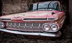 Old Chevrolet car in Bisbee 2