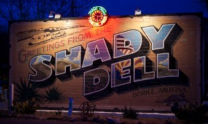 shady dell rv park sign