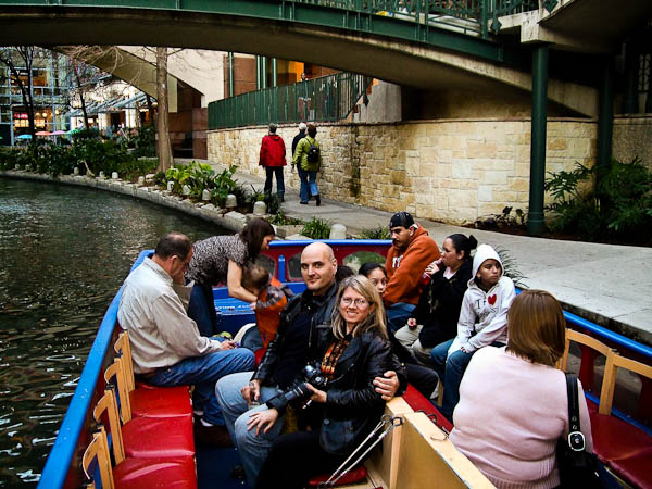 tour boat on Riverwalk San Antonio