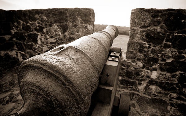 Presidio La Bahia in goliad cannon