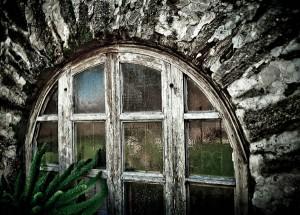 Window at the Spanish Mission Espada