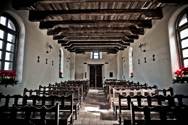 Inside the Spanish Mission Espada
