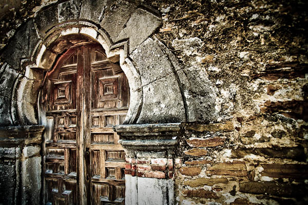 Mission Espada doorway