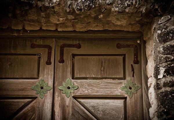 chapel door at Presidio in goliad