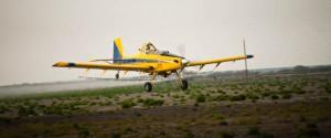 crop dusting plane in texas
