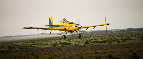 crop dusting plane in texas