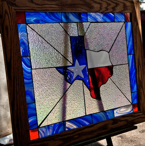 goliad state of texas framed window