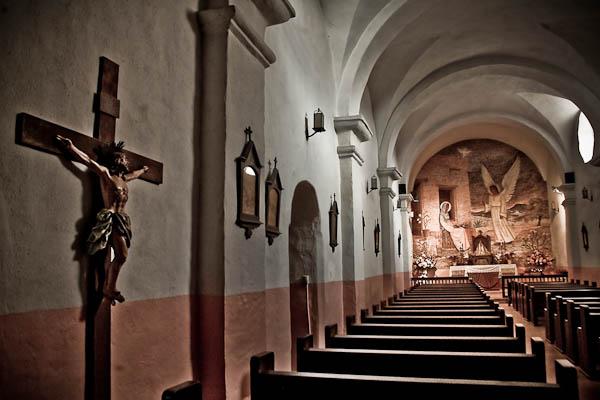 inside Presidio La Bahia chapel sanctuary