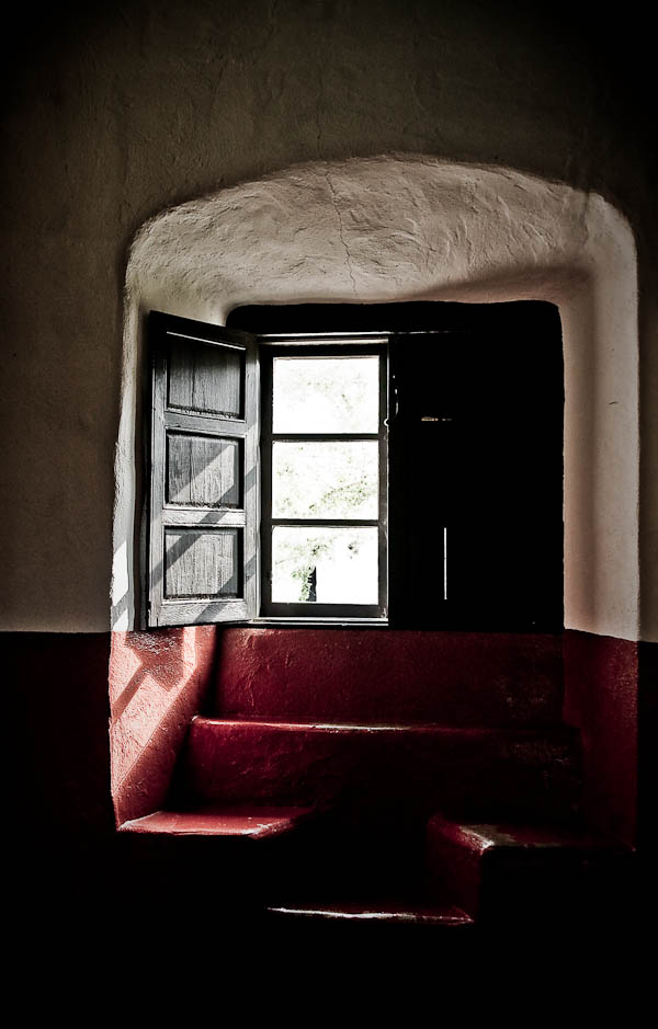 inside window of goliad mission