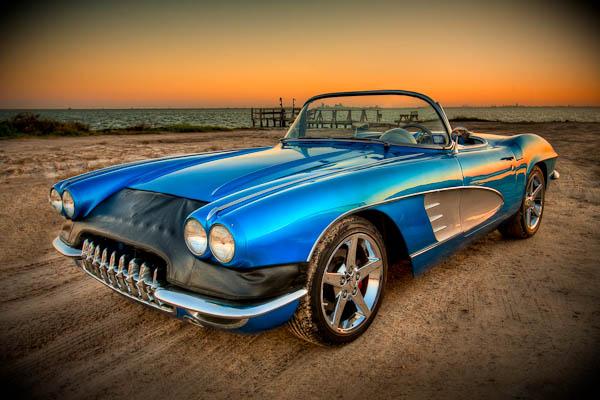 classic blue 61 corvette hdr