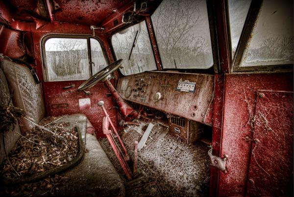inside the fire truck