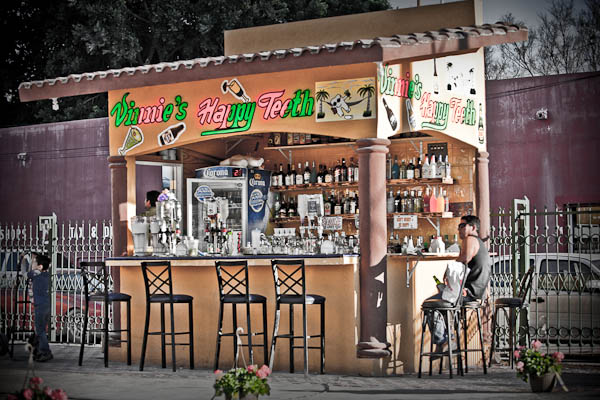 outdoor bar in mexico