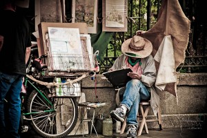 artist in Jackson Square