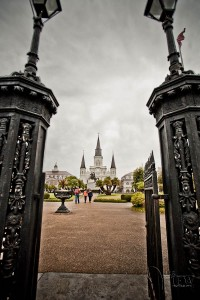 gate into Jackson Square