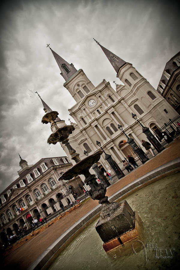 the fountain at Jackson Square