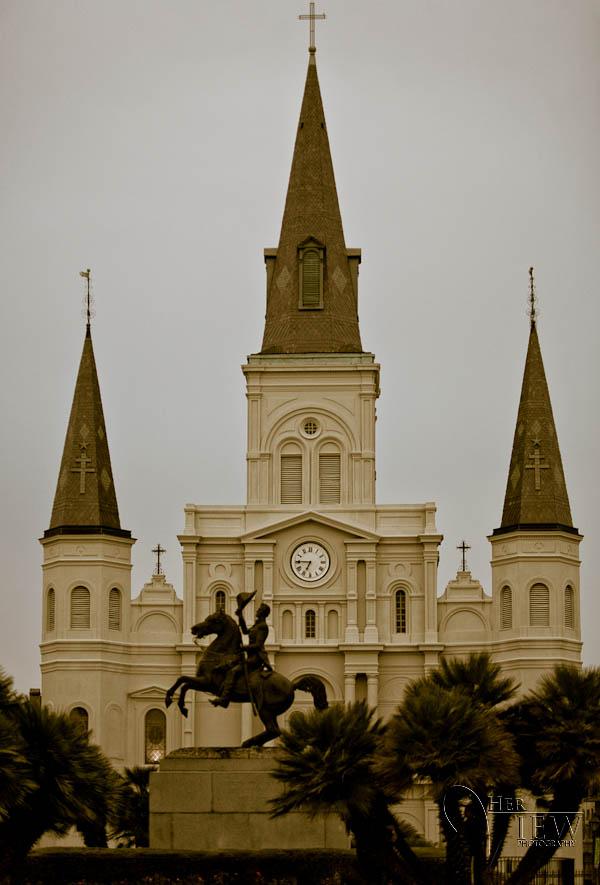 Jackson Square statue of General Andrew Jackson