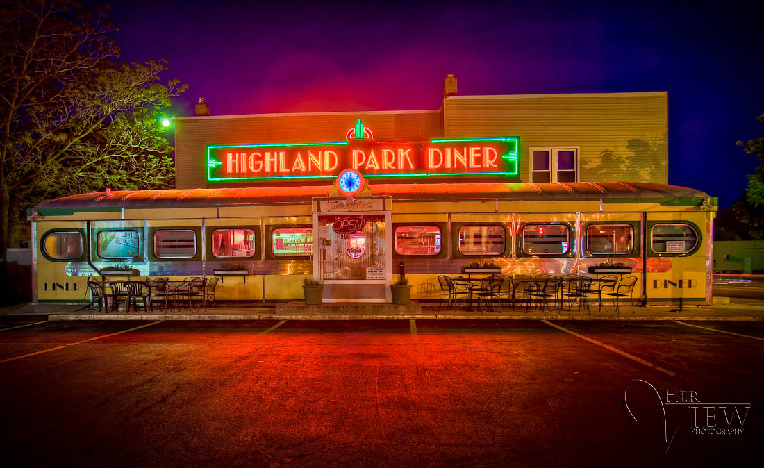 Highland Park Diner in Rochester new York as an HDR Photograph