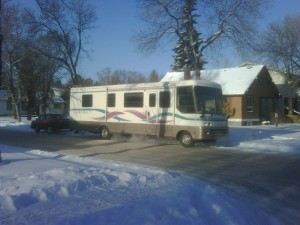 RV loaded up and ready to go